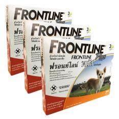 โปรโมชั่น Frontline Plus ฟรอนท์ไลน์ พลัส สำหรับสุนัขน้ำหนักไม่เกิน 10 กก 3 หลอด X 3 กล่อง Frontline Plus