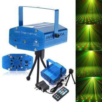 G2G ไฟเลเซอร์ดิสโก้ พร้อมรีโมท สำหรับตกแต่งบ้าน เวที งานปาร์ตี้ หรือสถานที่งานต่าง ๆ สีน้ำเงิน จำนวน-
