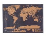 ราคา Gaoshang Scratch Off World Map Scratch Off World Travel Tracker Poster Map 30X42 5Cm Black Intl ออนไลน์