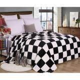 โปรโมชั่น Getagift ผ้าห่ม ผ้าห่มนาโน ลายตารางหมากรุก ขาว ดำ ขนาด 180X200 ซม Getagift ใหม่ล่าสุด