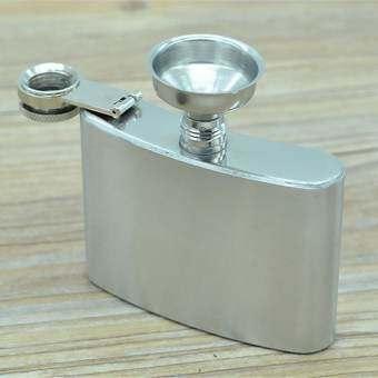 GETEK 10 oz สแตนเลสเครื่องดื่มแอลกอฮอล์วิสกี้ขวดเก็บเหล้ากระติกน้ำฮิปพกพา (Silver)-