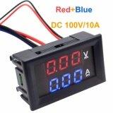Getek Dc 100V 10A Voltmeter Ammeter Blue Red Led Dual Digital Volt Amp Meter Gauge Intl จีน