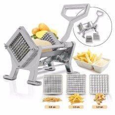 ราคา Getservice เครื่องหั่นเฟรนฟราย หั่นมันฝรั่ง เครื่องหั่นขนาดใหญ่ Shredder Fries Sliced Potatoes มีใบมีด 3 ขนาด สีเงิน เป็นต้นฉบับ
