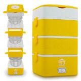 ราคา Getzhop หม้อนึ่งไฟฟ้า ปิ่นโตไฟฟ้า หม้อนึ่งอเนกประสงค์ 4 ชั้น รุ่น Hw Sto1M Yellow House Worth ใหม่