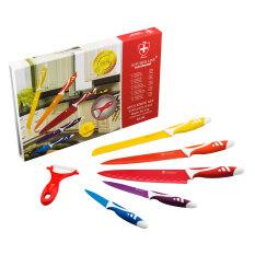 Getzhop ชุดมีดแสตนเลส Set 6 ชิ้น Kitchenline Switzerland รุ่น Kl-06 -คละสี By Getzhop.
