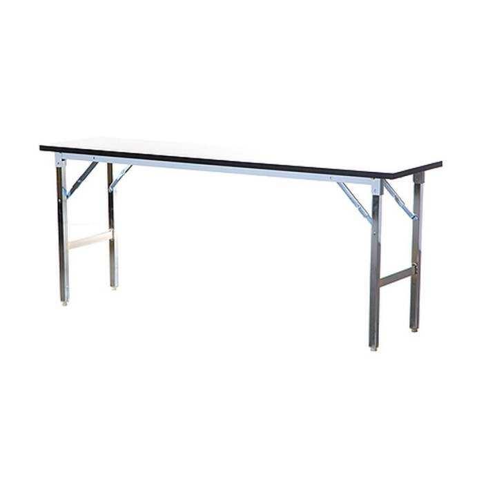 แนะนำ Gindex โต๊ะพับอเนกประสงค์ ขาเหล็กชุปโครเมี่ยม ขนาด 120x45x75 (สีขาว)