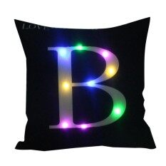 Glow Pillowcases Led Pillow Case Creative Black White English Alphabet Christmas Bedroom.