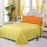 ราคา Gogolife All Size Sanding Cotton Solid Color Bed Sheet Flat Sheet Style 1 Yellow ออนไลน์