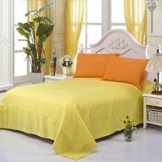 ขาย Gogolife All Size Sanding Cotton Solid Color Bed Sheet Flat Sheet Style 1 Yellow ถูก