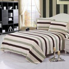 ขาย Gogolife Cotton High Quality Stripe Pattern Bed Sheet 16 Green Stripe ใหม่
