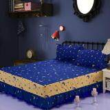 ขาย Gogolife Single Full Queen King Size High Quality Cotton Bed Skirt Bedsheets Bed Cover Star Moon 16 Navyblue ออนไลน์ จีน