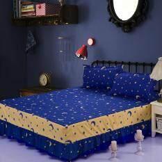 ทบทวน Gogolife Single Full Queen King Size High Quality Cotton Bed Skirt Bedsheets Bed Cover Star Moon 16 Navyblue Unbranded Generic