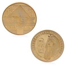 ชุบทองโบราณ Tutankhamun เหรียญที่ระลึกความท้าทายคอลเลกชันของที่ระลึก - Intl By Kingstones.