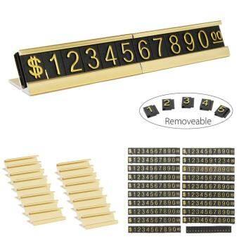 ฐานทองปรับตัวอักษรและตัวเลขแสดงราคาขาตั้งเคาน์เตอร์: ชุดป้ายชื่อ - INTL
