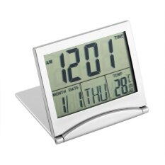 โปรโมชั่น Good Digital Lcd Display Thermometer Calendar Alarm Clock Flexible Cover Desk Clock Intl ใน ฮ่องกง