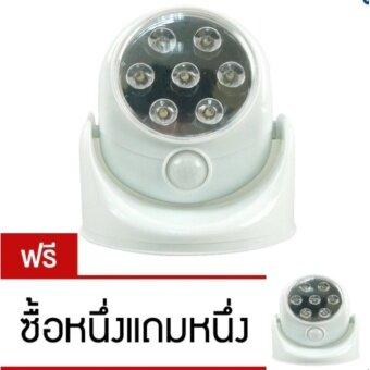Good° LED Motion Sensor ไฟเซ็นเซอร์ 7 LED ตรวจจับการเคลื่อนไหวปรับระดับ180° (White) ซื้อ 1 แถม 1