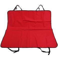 Goodsfordog ผ้าคลุมเบาะหลังรถยนต์ (สีแดง)