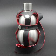 ราคา Haotom น้ำเต้ารูปทรง 304 สเตนเลสแบบพกพาขวดแก้วขวดน้ำแบบพกพากลางแจ้งเพื่อให้รัด