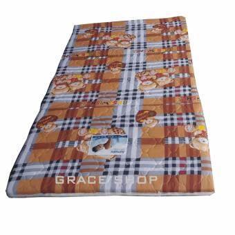 Grace Shop ที่นอนปิคนิค ยางพีอี 100 % ขนาด 3.5 ฟุุตรุ่น 3 พับ (สีผ้าลายหลากสี) -