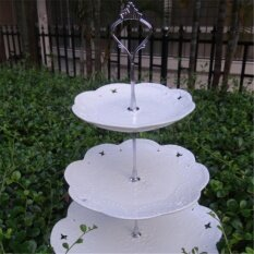 ขาย Gracefulvara 3 ชั้นเค้กคัพเค้กขาตั้งอุปกรณ์ยึด Silver Crown ถูก ใน จีน