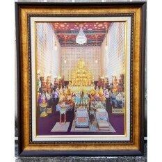 ราคา Graphic Anodized พระโกศทองใหญ่ บนแผ่นอลูมิเนียม พร้อมกรอบไม้จากนอกอย่างดีที่สุด ถูก