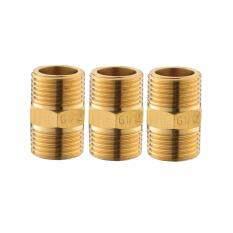 ราคา Hafele ข้อต่อตรง เกลียวนอก ทองเหลือง ขนาด 1 2 4 หุน จำนวน 3 ชิ้น ็hafele ใหม่