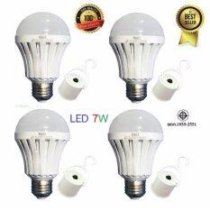 ความคิดเห็น ของแท้ Hagi หลอดไฟอัจฉริยะ หลอดไฟฉุกเฉิน Led 7W แสงขาว Led Emergency Bulb E27 4 หลอด