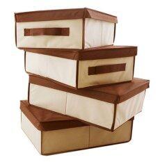 ซื้อ Hako กล่องเก็บห้องรก รุ่น Akari Classic ขนาด 32 X 48 X 16 ซม สีโทนน้ำตาล ถูก
