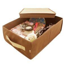 ซื้อ Hako กล่องเก็บห้องรกขนาดใหญ่ รุ่น Aki Brownie ขนาด 42 X 20 X 48 ซม สีโทนน้ำตาลลายจุด Hako ถูก