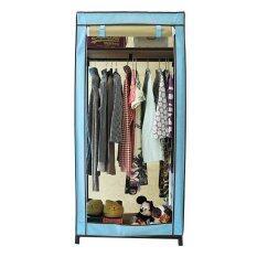 ราคา Hako ตู้เสื้อผ้า Hana Classic Blue ขนาด75 X 50 X 160 ซม ผ้าสปันสีฟ้าสลับสีน้ำตาลกาแฟ เป็นต้นฉบับ