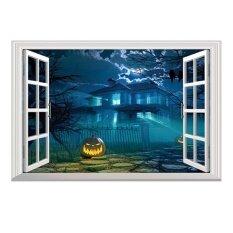ขาย Halloween Pumpkin 3D Wall Sticker Removable Window Decor Intl ใหม่