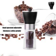 ขาย ซื้อ ออนไลน์ Hand Grinder Manual Coffee Grinder Plastic Coffee Machine Coffee Bean Grinder Intl