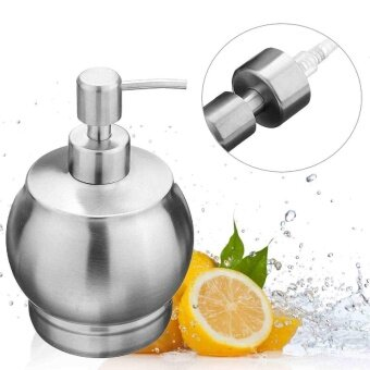 Hand Liquid Soap Dispensers 550ml Stainless Steel Bottle Bathroom Accessories - intl