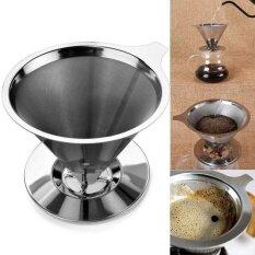 เครื่องวัดความน่าเชื่อถือแบบใช้มือถือ Durable สแตนเลสเดี่ยวถ้วยกาแฟ Dripper กับ   ขาตั้ง.