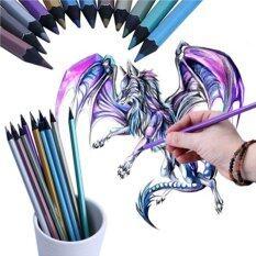 ขาย Hanyu 12 Pcs Metallic Colored Pencil Non Toxic For Drawing Sketching Set Stationery Intl เป็นต้นฉบับ
