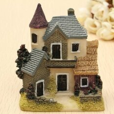 โปรโมชั่น Happylife Miniature House Villa Fairy Garden Micro Landscape Mini Homedecoration Resin Intl Unbranded Generic