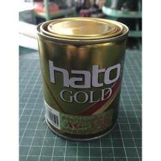 ราคา Hato สีน้ำมันอะคริลิคแท้ สี Gold สีทองคำเปลว ขนาด 1 ปอนด์ Ag 123 ใหม่