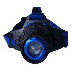 Headlamp ไฟฉายคาดหัว Rechargeable Headlamp Hl 1 Black Blue เป็นต้นฉบับ