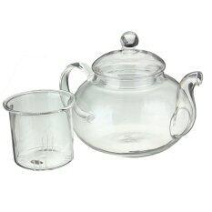 ราคา Heat Resistant Glass Teapot Infuser Tea Pot Clear 600Ml ที่สุด