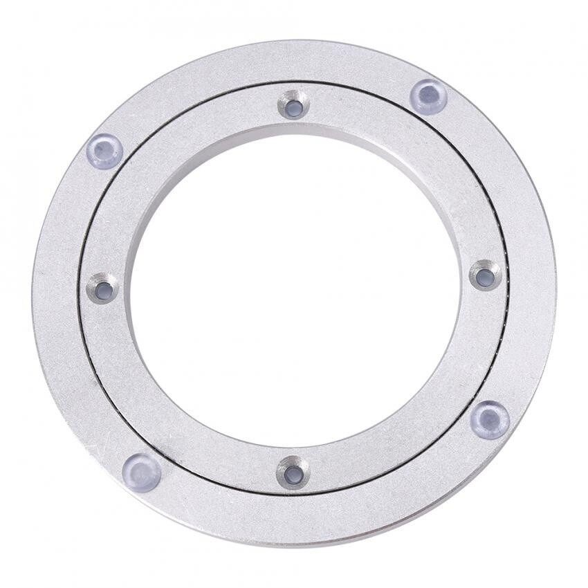epayst Heavy Duty Aluminium Alloy Rotating Bearing Turntable Round Table Smooth Swivel Plate 8 inch