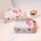 ซื้อ Hello Kitty การ์ตูนถาดรถสูบน้ำกล่องกระดาษทิชชูปกกล่อง ใหม่