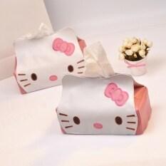 โปรโมชั่น Hello Kitty การ์ตูนถาดรถสูบน้ำกล่องกระดาษทิชชูปกกล่อง Unbranded Generic