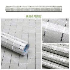 ราคา Hengsong Kitchen Sticker Mosaic Aluminum Foil Self Adhensive Anti Oil Wall Paper Sticker Blue