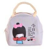 ความคิดเห็น Hequ Little G*rl Pattern Bento Lunch Boxes Bags Beige