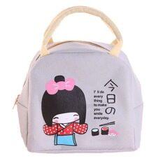 ราคา Hequ Little G*rl Pattern Bento Lunch Boxes Bags Beige
