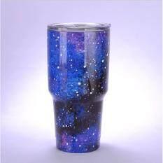 HFSHOP แก้วYETIเก็บอุณหภูมิร้อน/เย็น 30oz กาแลคซี่น้ำเงิน