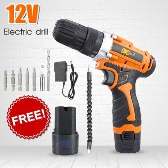 ถูกที่สุดในวันนี้ HHsociety Electric Drill สว่านไฟฟ้าไร้สาย 12V เครื่องมือ อุปกรณ์ช่าง พร้อมกล่องเก็บกันกระแทก แถมฟรีแบตเตอรี่ buy - มีเพียง ฿890.00