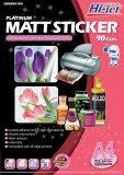 ราคา Hi Jet Matt Sticker Inkjet สติ๊กเกอร์กระดาษผิวด้าน 90 แกรม A4 100 Sheets ใหม่