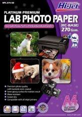 ราคา Hi Jet Photo Lab Paper กระดาษเคลือบพิเศษผิวกึ่งมันเงากึ่งด้าน 270 แกรม Rc Base A4 50 Sheets Hi Jet กรุงเทพมหานคร
