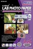 ซื้อ Hi Jet Photo Lab Paperกระดาษเคลือบพิเศษ ผิวกี่งมันเงากึ่งด้าน 260 แกรม Rc Base ขนาด 4 X 6 นิ้ว 100 Sheets ใหม่